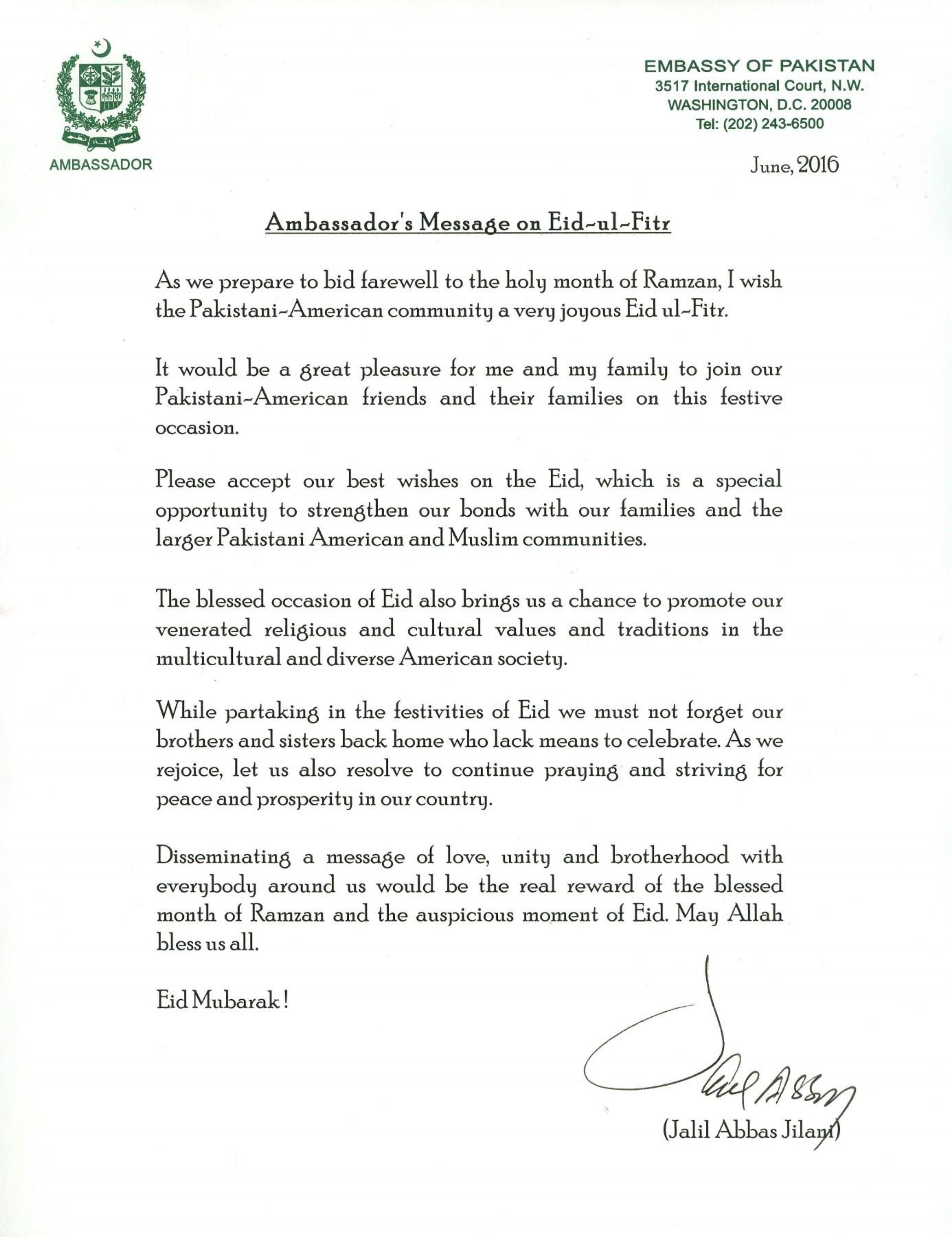 Simple Letter Eid Al-Fitr Greeting - Ambassadors-Message-on-Eid-ul-Fitr-June-2016  Perfect Image Reference_73370 .png
