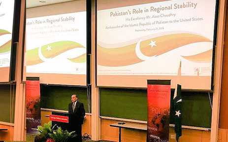 In-his-remarks-at-the-Carnegie-Mellon-University,-Ambassador-Aizaz-Chaudhry-emphasized-the-need-for