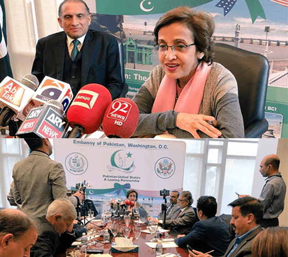 Foreign-Secretary-of-Pakistan-Ms.-Tehmina-Janjua-giving