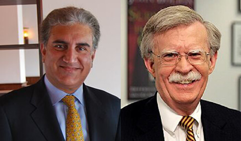 The-meeting-between-the-Foreign-Minister-Shah-Mahmood-Qureshi-and-Mr.-John-Bolton